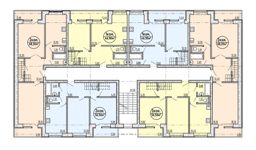 Схема планировок квартир в